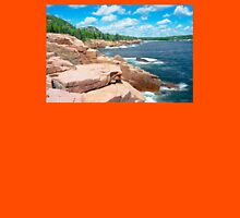 Rocky Summer Seascape Acadia National Park  Unisex T-Shirt