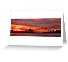 As the sun goes down behind the coat hanger Greeting Card