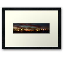 Just before the sun dissapears for the day Framed Print