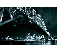 Black and White shot of Sydney's landmarks Photographic Print