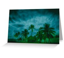 Paradise storm Greeting Card