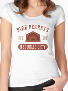 Republic City's Fire Ferrets (Red) Women's Fitted Scoop T-Shirt
