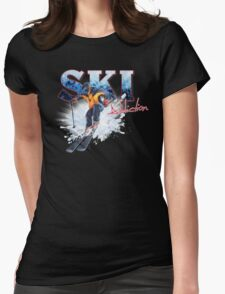 Ski Addiction Womens Fitted T-Shirt