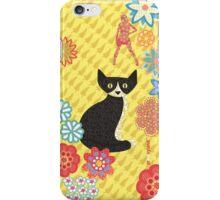 Black Cat 'aint yellow iPhone Case/Skin