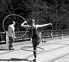 Jumping Through Hoops (Black and White) by Nevermind the Camera Photography