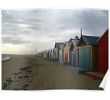 Brighton Beach Houses Poster