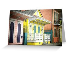 French Quarter Houses Greeting Card Greeting Card