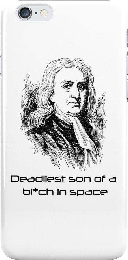 Isaac Newton is Deadly iphone case by Dtaktics