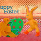 Happy Easter Greeting Card by curlyorli
