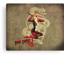Molotov War Pin Up Bombshell Canvas Print