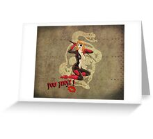 Molotov War Pin Up Bombshell Greeting Card