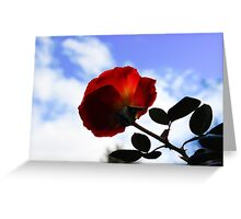 Fire Rose Greeting Card