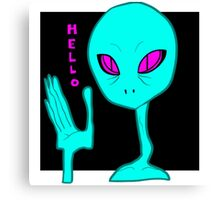 Alien Greeting Canvas Print