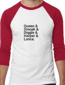 Arrow Names (Green Arrow) Men's Baseball ¾ T-Shirt