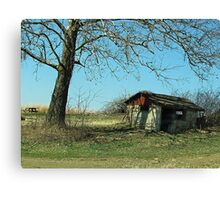 Abandoned in the Shade Canvas Print