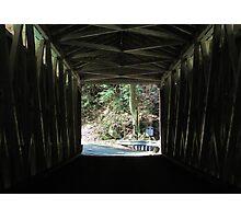 Inside the Covered Bridge Photographic Print