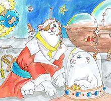 Space Pirate Polar Bears by Avril E Jean