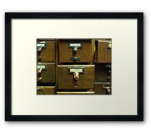 Used Card Catalog (Full of Toys) Framed Print