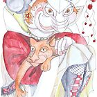 Lady with Cat and Boots by Avril E Jean