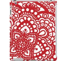 Floral III - Red iPad Case/Skin