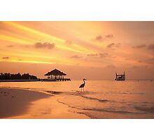 Maldivian Sunset Photographic Print