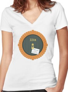 221B Bag End Women's Fitted V-Neck T-Shirt