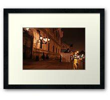 Boston Night Framed Print