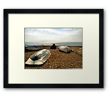 Boats on Beach Framed Print