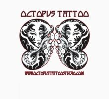 """Bride Of Cthulhu"" - Octopus Tattoo T Shirt Design No. 2 by GerryCarnelly"
