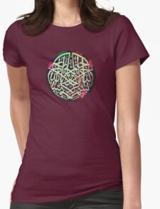 Bismillah Water colour 1 Womens Fitted T-Shirt