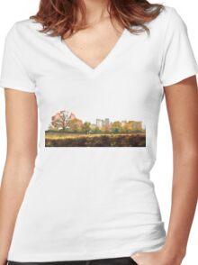 Hidden history Women's Fitted V-Neck T-Shirt
