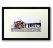 Boat and Pier Framed Print