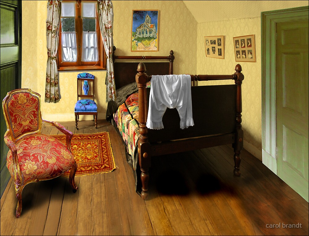 Homage to van gogh 39 s 39 bedroom at arles 39 by carol brandt for Bedroom in arles