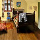 homage to van gogh's 'bedroom at arles' by carol brandt