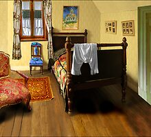 homage to van gogh's 'bedroom at arles' by carol brandt