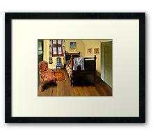 homage to van gogh's 'bedroom at arles' Framed Print