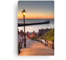 Whitby Steps - Orange Glow Canvas Print