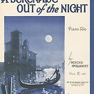A SERENADE OUT OF THE NIGHT (vintage illustration) by ART INSPIRED BY MUSIC