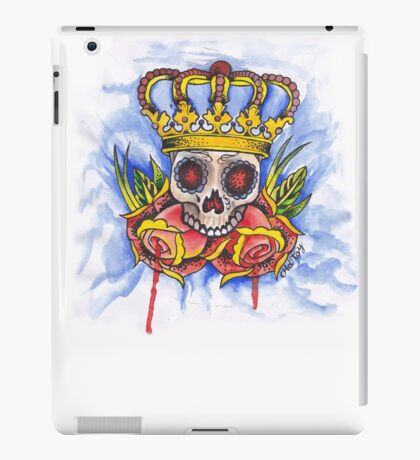 Skull Crown and Roses iPad Case/Skin