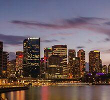 Circular Quay from the Opera House, Sydney, Australia by Karon Grant