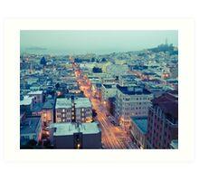 Powell Street at 6am Art Print