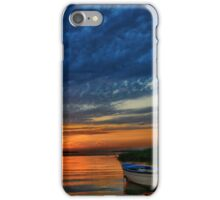 Boat, sunset and dramatic sky iPhone Case/Skin