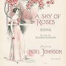 A SKY OF ROSES (vintage illustration) by ART INSPIRED BY MUSIC