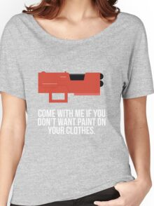 Community Paintball Print Women's Relaxed Fit T-Shirt