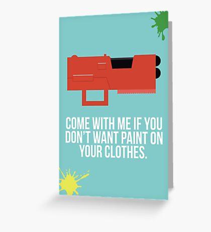 Community Paintball Print Greeting Card