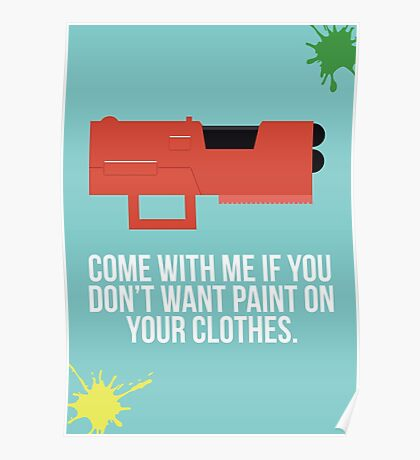 Community Paintball Print Poster