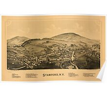 Panoramic Maps Stamford NY Poster