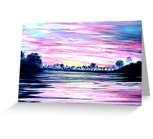 Rivery Murray Sunset Greeting Card