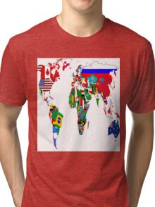 World Flags Tri-blend T-Shirt