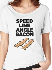 Speed Line Angle Bacon Women's Relaxed Fit T-Shirt